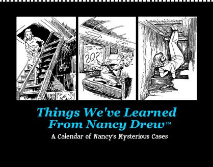 Nancy Drew Silhouette Clip Art Gift books, paper dolls,