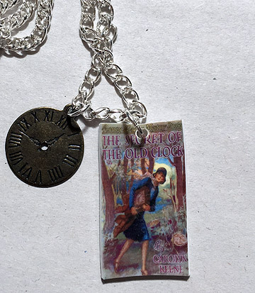 The sleuth shop vintage art sleuthy dink nancy drew necklace aloadofball Image collections